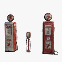 Old Gas and Air Pump 3D Model