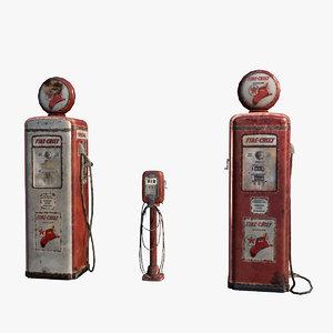 retro gas air pumps model