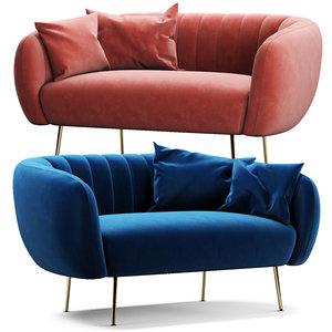 3D cult living effie sofa