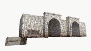 3D tunnel underground room