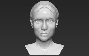 3D meghan markle bust ready model