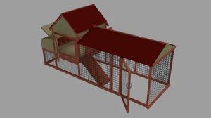 3D backyard chicken coop