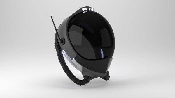 futuristic helmet design fighter pilot 3D model