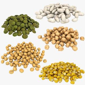 legumes kidney bean 3D