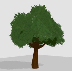 toon tree 3D model