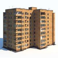 soviet nine-story 3D model