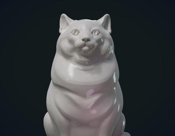 print ready cat 3D model