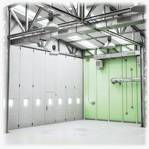 3D hangar ready games model