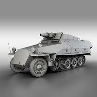 3D sd kfz 251 9 model