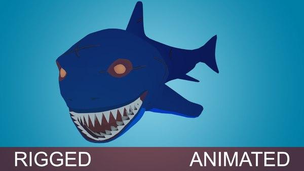 3D shark fish