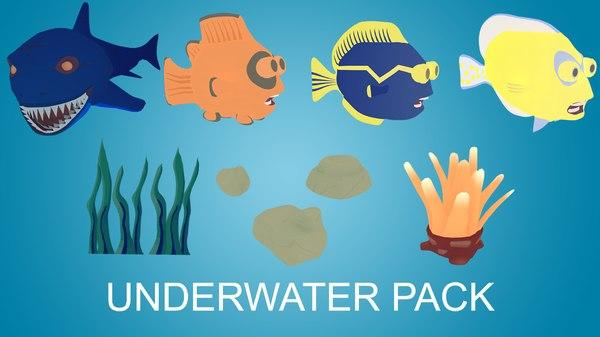 underwater shark fish 3D