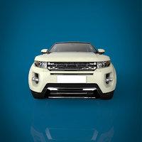 3D suv car materials model