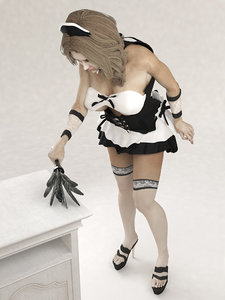 static pose maid 3D model