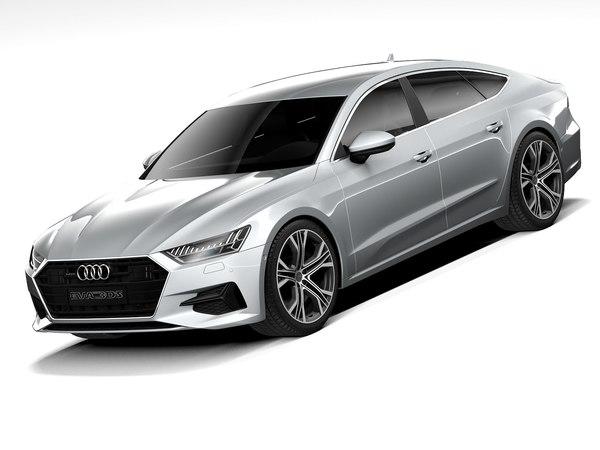 3D audi a7 sportback 2020 model