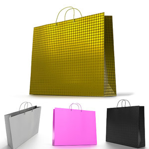 3D ar shopping bag 4 model