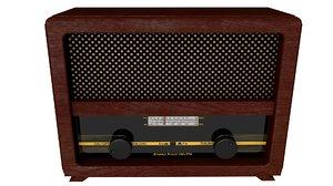 old antique radio 3D