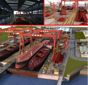 ship shipyard 3D model