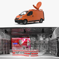3D tv studio station van
