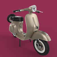 scooter motorcycle vehicle 3D model
