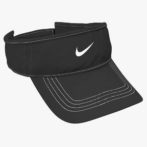 3D adjustable sun visor cap model