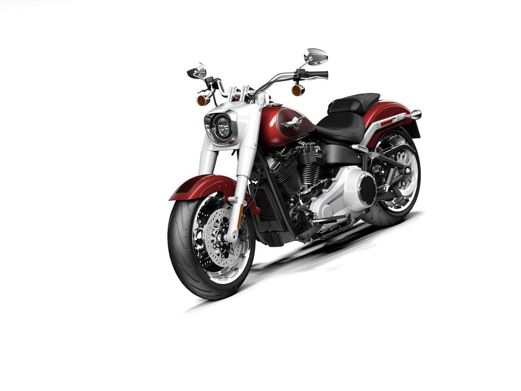 Harley-davidson fat boy 2020 3D model - TurboSquid 1385620