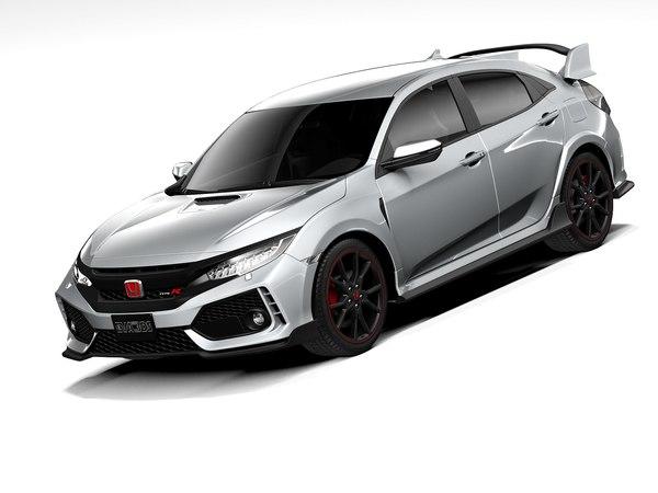 3D honda civic type r model