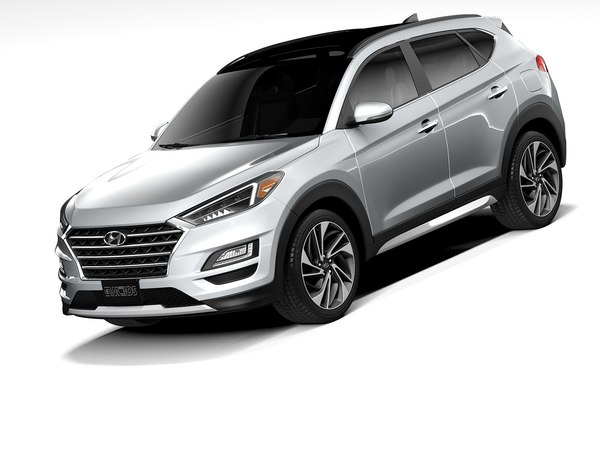 3D hyundai tucson 2020 model