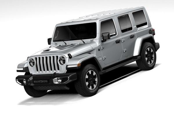 3D model jeep wrangler sahara 2020