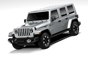 3D model jeep wrangler sahara 2020