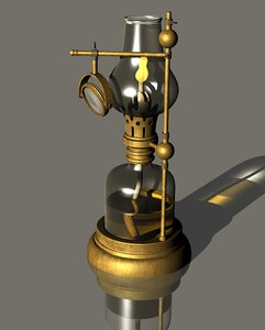 kerosene microscope lamp 3D