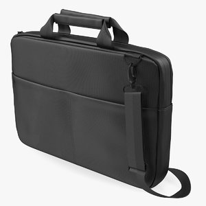 laptop carrying case pockets 3D model