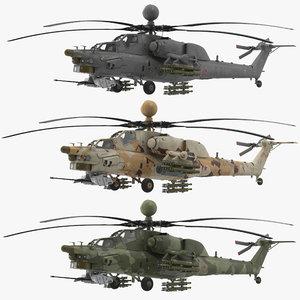 3D mi-28n v-ray navy