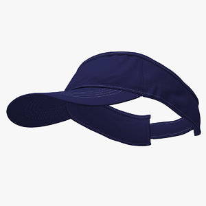 3D model sunvisor cap blue sun