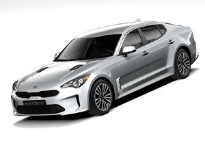 3D kia stinger 2020 model