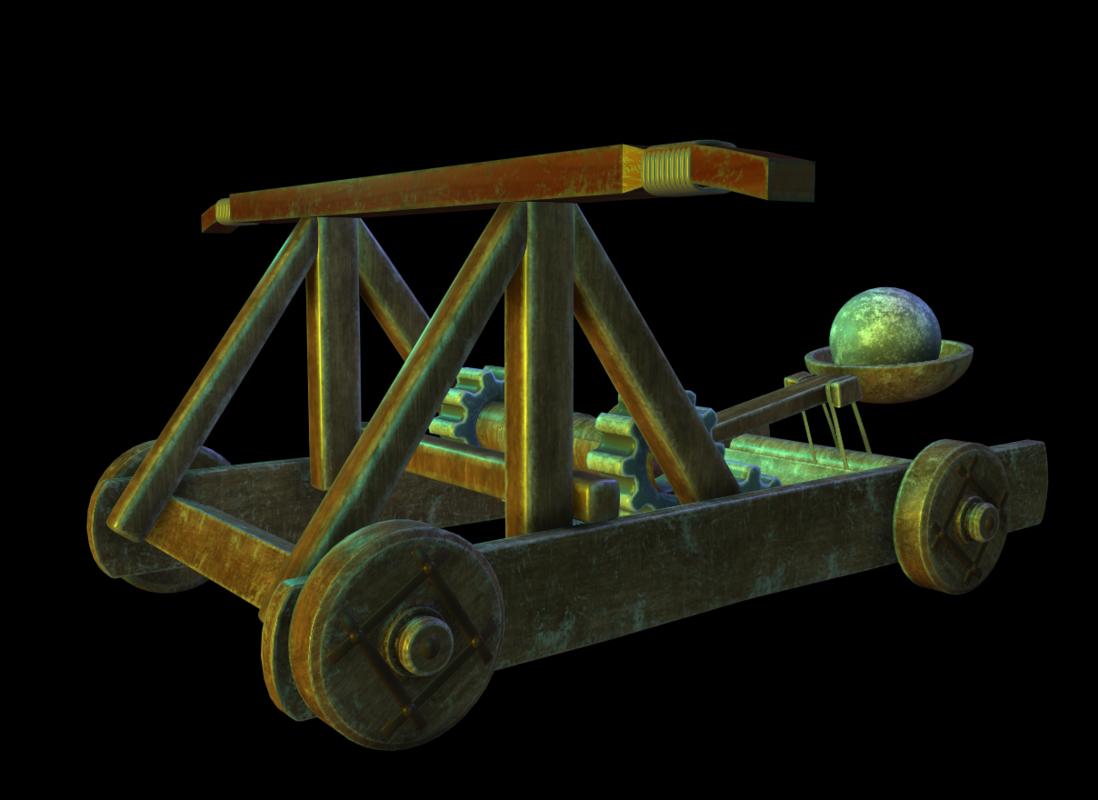 trebuchet weapon 3D model