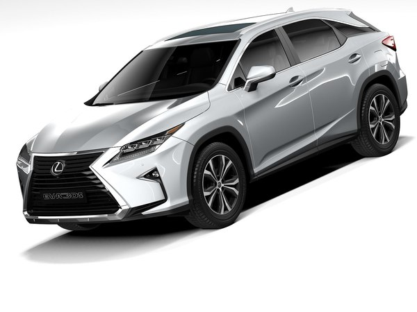 3D lexus rx l 2020 model