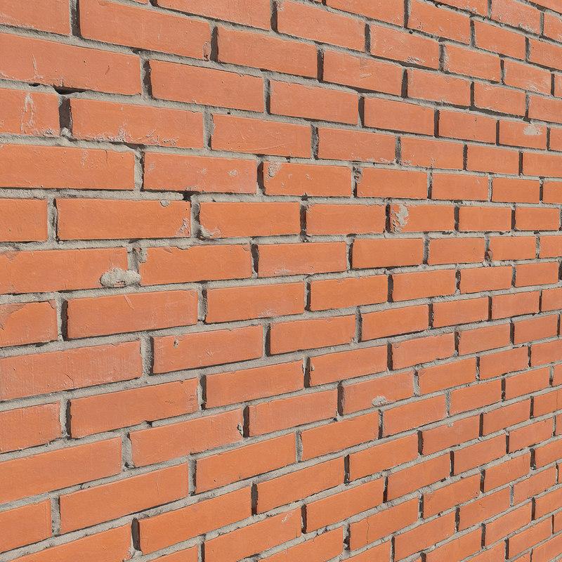 ultra realistic brick wall 3D