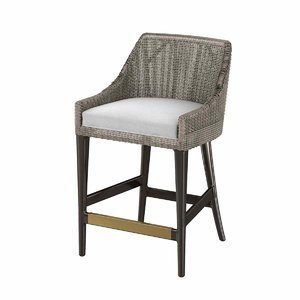 3D vincent counter barstool model