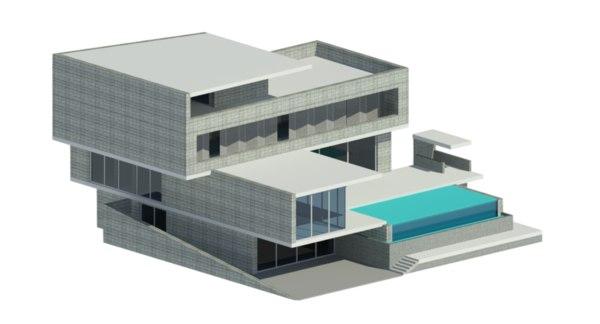 modern shophouse 3D model