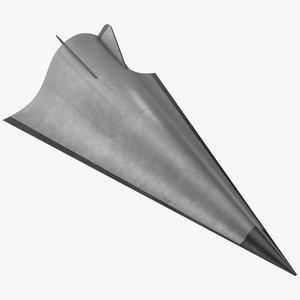 avangard hypersonic glide vehicle 3D