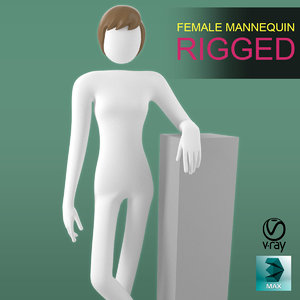 female mannequin rigging model