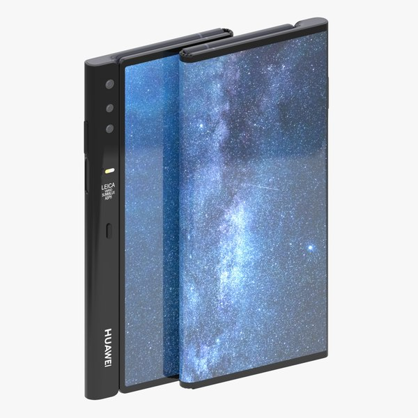 3D model huawei mate x rigged