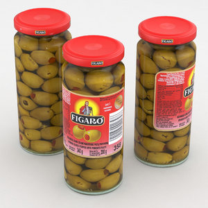 food jar olives 3D model