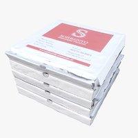 3D pizza cartons
