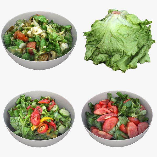 bowl salad lettuce model