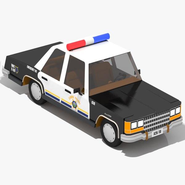 cartoon police car model