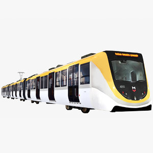 subway metro train 3D model