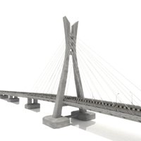 lekki ikoyi bridge lagos 3D model