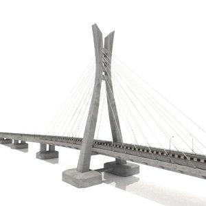 lekki ikoyi bridge lagos 3D model