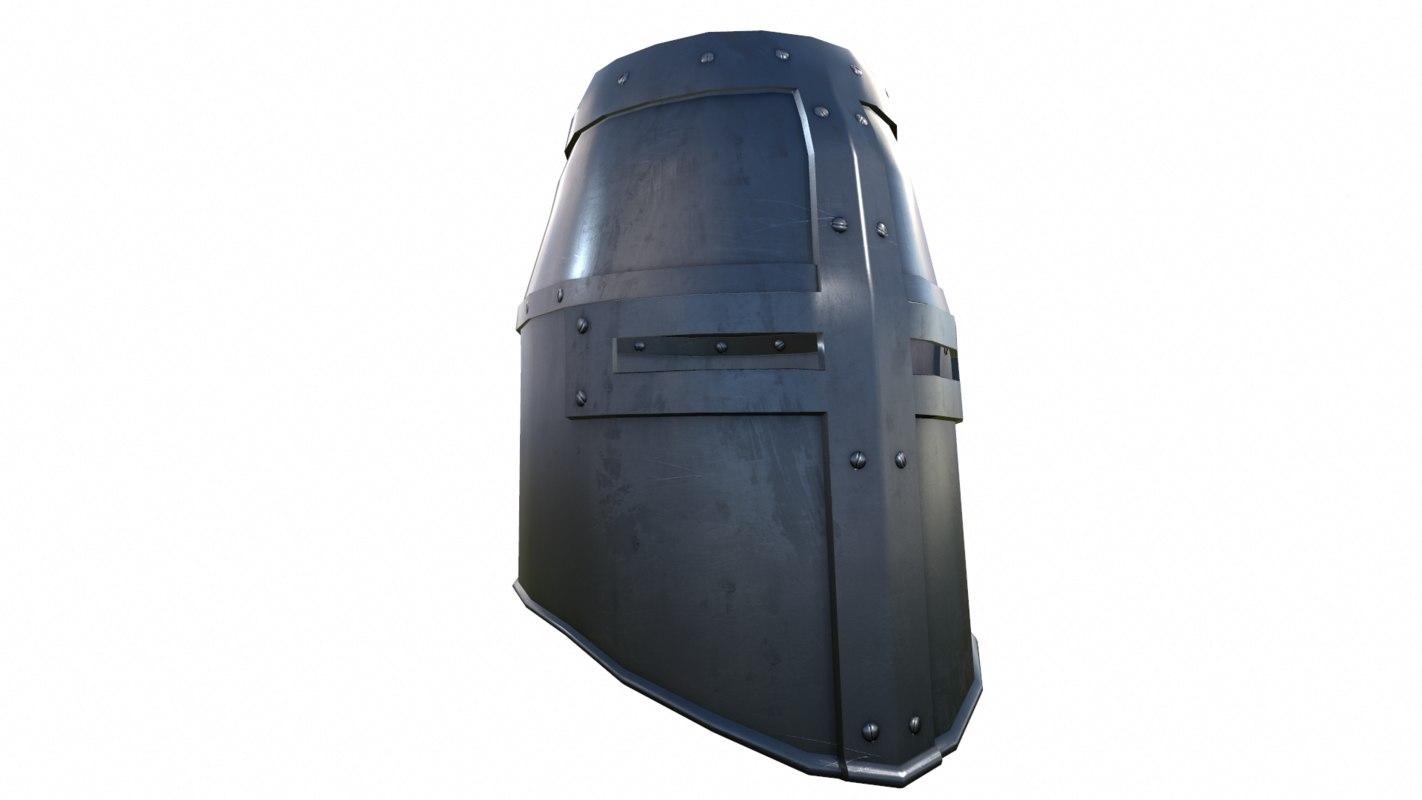 3D crusader helm helmet model